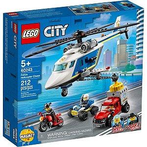 Lego City Playset Perseguiçao Policial de Helicoptero 60243