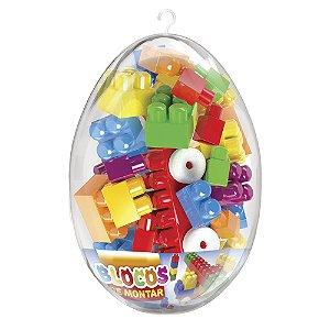 Brinquedo Blocos de Montar no Ovo de Páscoa Grande Lider