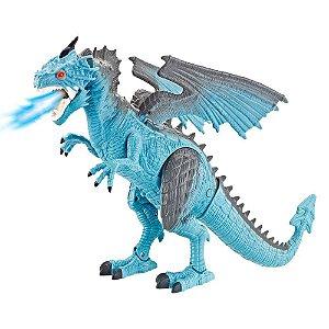 Brinquedo Dragão De Controle Remoto Sopro de Gelo Polibrinq