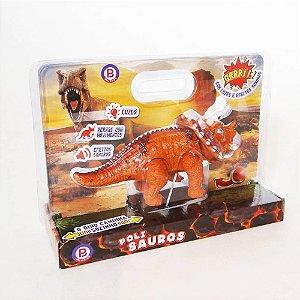 Brinquedo Dinossauro Triceratops Anda Sozinho Polibrinq