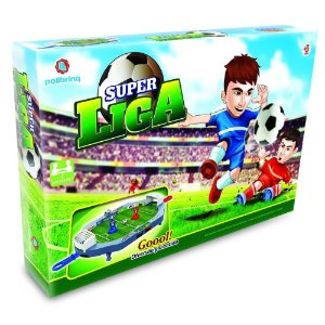 Brinquedo Jogo de Mesa Super Liga Futebol Original Polibrinq