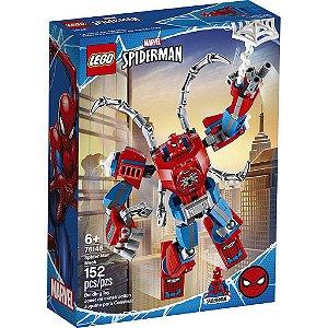 Lego Marvel Super Heroes Robô Spider Man com 152 Peças 76146