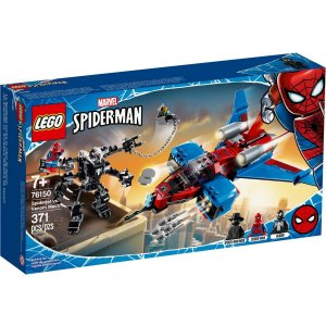Lego Marvel Super Heroes Spider Jet vs Robo Venom Mech 76150