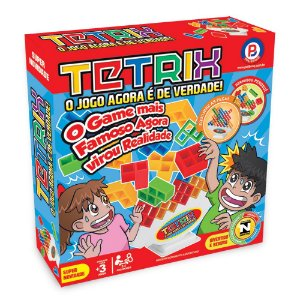 Brinquedo Jogo Infantil Tetrix Entretenimento Polibrinq