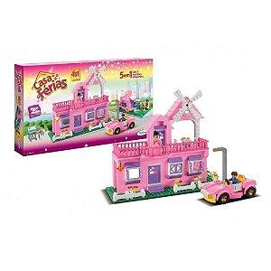 Brinquedo Blocos de Encaixe Casa de Férias 431 Peças Xalingo