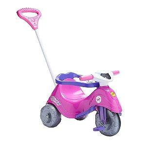 Brinquedo Velotrol Triciclo Lelecita Rosa Original Calesita