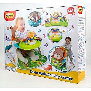 Brinquedo Centro de Atividades 2em1 Cadeira e Andador Winfun