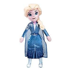 Brinquedo Pelúcia Disney Frozen Elsa 35 Cm Original Fun