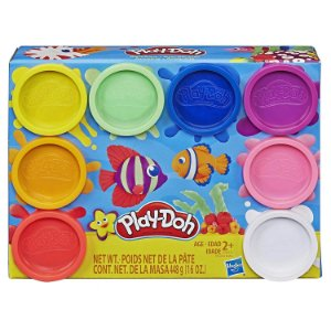 Massinha Play Doh Classic com 8 Potes Sortidos Hasbro E5062