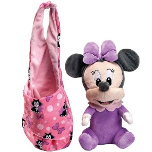 Brinquedo Pelúcia Disney Baby Minnie 25 Cm Original Fun
