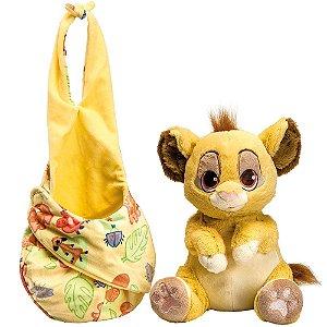Brinquedo Pelúcia Disney Baby Simba 25 Cm Original Fun