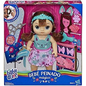 Boneca Baby Alive Cortes de Cabelo Morena da Hasbro E5242