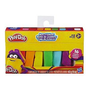 Massinha Play Doh Bastao Box Color com 16 Cores Hasbro A2744