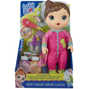Boneca Baby Alive Morena Aprendendo Cuidar da Hasbro E6942