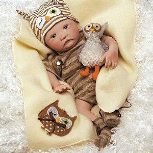Brinquedo Boneco Realista Bebe Reborn Hoot Hoot Original