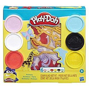 Massinha Play Doh Fundamentals Molde de Animais Hasbro E8535