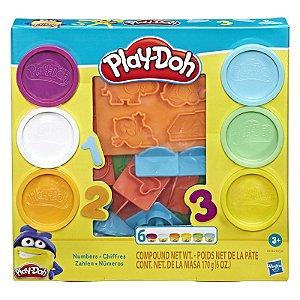 Massinha Play Doh Fundamentals Molde de Numeros Hasbro E8533