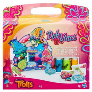 Brinquedo Doh Vinci Trolls Organizador Para Decorar B6995