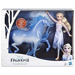 Boneca Disney Frozen 2 Cavalo Nokk e Elsa da Hasbro E5516