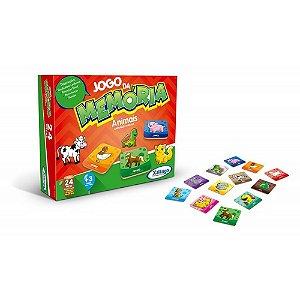 Brinquedo Educativo Jogo da Memória Animais Original Xalingo