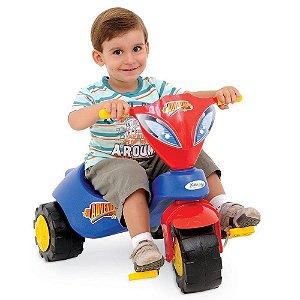 Brinquedo Velotrol Triciclo Adventure Azul Xalingo