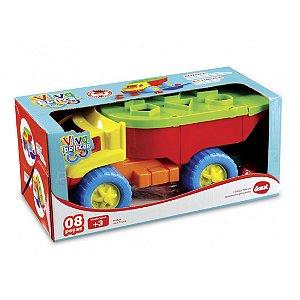 Brinquedo Educativo Caminhão Iron Truck 10 Pc Dismat MK126