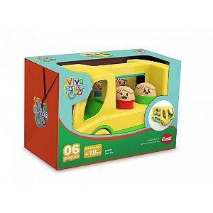 Brinquedo Educativo Ônibus Bus Kid Original Dismat MK132