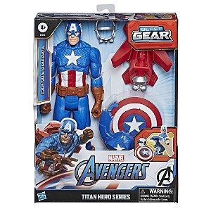 Boneco Marvel Capitao America com Lançador da Hasbro E7374