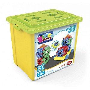 Brinquedo Educativo Caixa Mini Box Clic e Monte Dismat MK197
