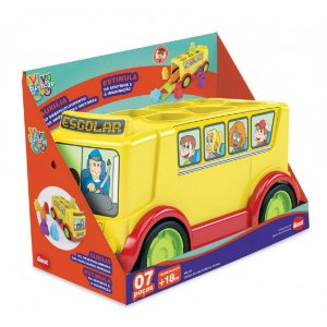 Brinquedo Educativo Ônibus Escolar Didático Dismat MK254