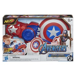 Lançador Nerf Marvel Power Moves Hero Capitao America E7375