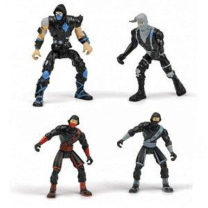 Combo 10 Bonecos Mini Figura Ninjas Surpresa Dtc 4192