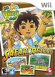 Jogo Midia Fisica Go Diego Go Safari Rescue Nintendo Wii