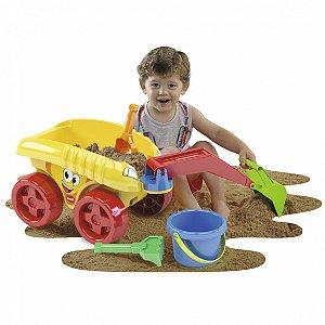 Brinquedo Educativo Carro Euro Car Escavator Dismat MK315