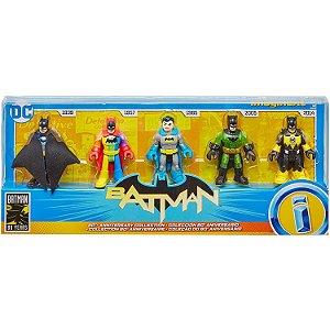 Figura Imaginext Batman 80 Years Pack com 5 Bonecos Gld99