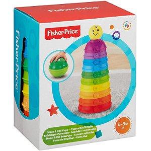 Brinquedo Torre de Potinhos Coloridos da Fisher Price W4472
