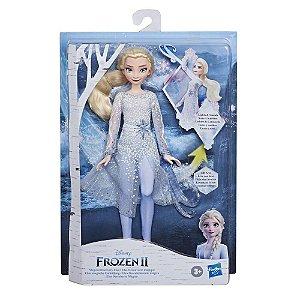 Brinquedo Boneca Frozen 2 Poderes Mágicos Elsa Hasbro E8569