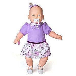 Brinquedo Boneca Meu Bebe Veste Lilas Original Estrela