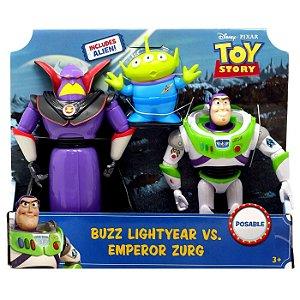 Boneco Toy Story Pack Buzz Lightyear e Imperador Zurg Gjt94