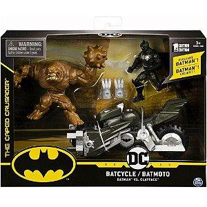 Figura Dc Comics Batman e Moto vs Cara de Barro Sunny 2184