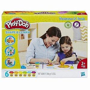 Brinquedo Play Doh Texturas E Ferramentas Hasbro B3408