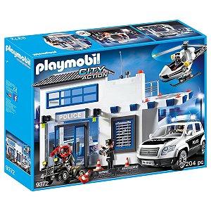 Playmobil Posto Policial e Helicoptero 204 Peças Sunny 9372