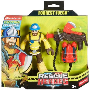 Brinquedo Rescue Heroes Forrest Fuego Fisher Price GFW37