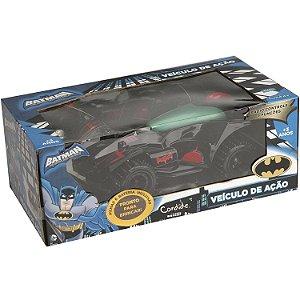 Veiculo de Controle Remoto Batman Carro de Açao Candide 9055