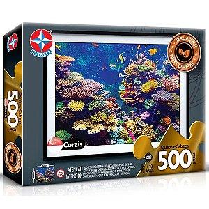 Quebra Cabeça Belezas Naturais Corais com 500 Peças Estrela