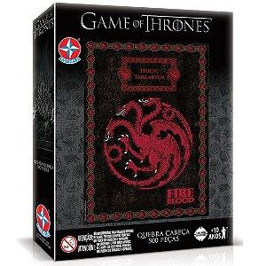 Quebra Cabeça Game Of Thrones Targaryen de 500 Peças Estrela