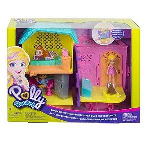 Brinquedo Boneca Polly Pocket Club House Polly Mattel GMF81