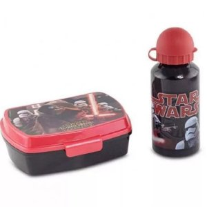 Kit de Lanche Disney Garrafa e Sanduicheira Star Wars 3794