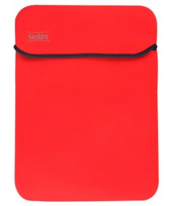 Nova Capa Laptop Neoprene Vermelha Com Cinza Sestini 10,2