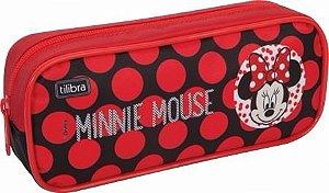 Novo Estojo Escolar Grande Minnie Mouse Original Tilibra